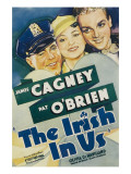 The Irish in Us, Pat O'Brien, Olivia De Havilland, James Cagney on Window Card, 1935 Prints