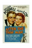 After the Thin Man, William Powell, Myrna Loy, Asta, 1936 Plakat