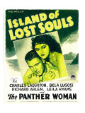 Island of Lost Souls, Richard Arlen, Kathleen Burke on Window Card, 1933 Kunstdrucke