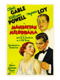 Manhattan Melodrama, William Powell, Myrna Loy, Clark Gable, 1934 Affiches