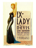 Ex-Lady, Bette Davis on Midget Window Card, 1933 Posters