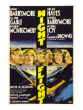 Night Flight, John Barrymore, Helen Hayes, Clark Gable, 1933 Photographie