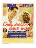 Only Angels Have Wings, Cary Grant, Jean Arthur, Rita Hayworth, Cary Grant on Window Card, 1939 Print