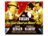 You Can'T Cheat an Honest Man, W.C. Fields, Charlie Mccarthy, Edgar Bergen on Window Card, 1939 Photo