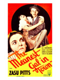 The Meanest Gal in Town, Zasu Pitts, James Gleason on Midget Window Card, 1934 Photo