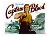 Captain Blood, Errol Flynn, 1935 Poster