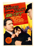 Big City, Spencer Tracy, Luise Rainer on Midget Window Card, 1937 Poster