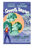 Seventh Heaven, Foreground: James Stewart, Background from Left: Simone Simon, James Stewart, 1937 Plakater