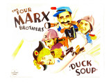 Duck Soup, Harpo Marx, Zeppo Marx, Groucho Marx, Chico Marx, 1933 Poster