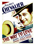 Way to Love, Maurice Chevalier on Midget Window Card, 1933 Print