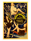 Gold Diggers in Paris, Poster Art, 1938 Print