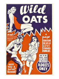 Wild Oats, Poster Art, 1940 Photo