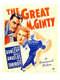 The Great Mcginty (Aka Down with Mcginty), Brian Donlevy, Muriel Angelus on Window Card, 1940 Photo