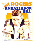Ambassador Bill, Marguerite Churchill, Will Rogers, Greta Nissen on Window Card, 1931 Posters
