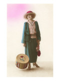 French Fashion, Lady with Hat Box Prints