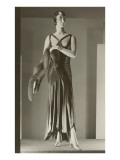 Twenties Mannequin in Evening Gown with Fox Pósters