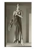 Twenties Mannequin in Evening Gown with Fox Prints