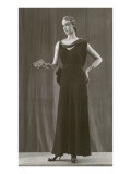 Twenties Mannequin in Dark Evening Gown Prints