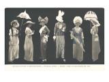 Parisian Silhouettes, French Fashion Prints