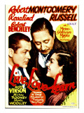 Live Love and Learn, Robert Montgomery, Robert Benchley, Rosalind Russell on Window Card, 1937 Láminas