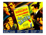 The Raven, Boris Karloff, Bela Lugosi, Irene Ware, Lester Matthews, 1935 Photo