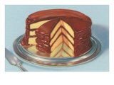 Yellow Cake with Chocolate Frosting, Three Layers Prints