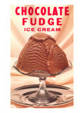 Chocolate Fudge Ice Cream Print