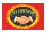 Fellowship Orange Crate Label Prints