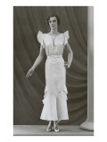 Twenties Mannequin with Butterfly Sleeves Print