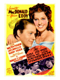 The Girl of the Golden West, Nelson Eddy, Jeanette Macdonald on Midget Window Card, 1938 Photo