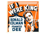 If I Were King, Ronald Colman on Window Card, 1938 Kunstdruck