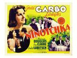 Ninotchka, Greta Garbo, Felix Bressart, Greta Garbo, Sig Rumann, 1939 Photo