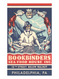Bookbinders Seafood House Advertisement Art