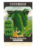 Cucumber Seed Packet Prints