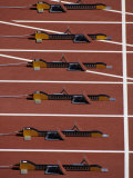 Starting Blocks for the Start of a Sprint Race Photographic Print by Paul Sutton