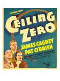 Ceiling Zero, Pat O'Brien, James Cagney, June Travis on Window Card, 1936 Photo