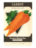 Carrot Seed Packet Poster