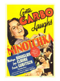 Ninotchka, Greta Garbo, Greta Garbo, Melvyn Douglas on Midget Window Card, 1939 Photo
