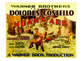 Noah's Ark, Half-Sheet Poster, Foreground Center: George O'Brien Carrying Dolores Costello, 1928 Photo