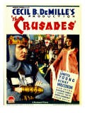 The Crusades, Henry Wilcoxon, Loretta Young on Midget Window Card, 1935 Print
