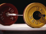 Weightlifting Equipment Photographic Print by Paul Sutton