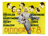 Dinner at Eight, Lionel Barrymore, Lee Tracy, Wallace Beery, 1933 Photo