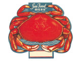 Seafood Menu, Crab Posters