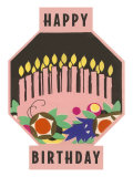 Happy Birthday, Cake Motif Art