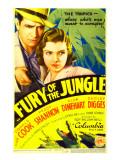 Fury of the Jungle, Donald Cook, Peggy Shannon on Midget Window Card, 1933 Affiches