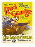 One Minute to Play, on Left, Wearing Blue Shirt: Harold 'Red' Grange, 1926 Poster