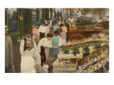 Fruit Stand in Market Print
