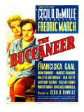 The Buccaneer, Franciska Gaal, Fredric March on Midget Window Card, 1938 Poster