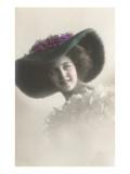 French Fashion, Large Fur Hat Prints