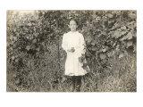 Girl in Grape Vines, Photograph Art